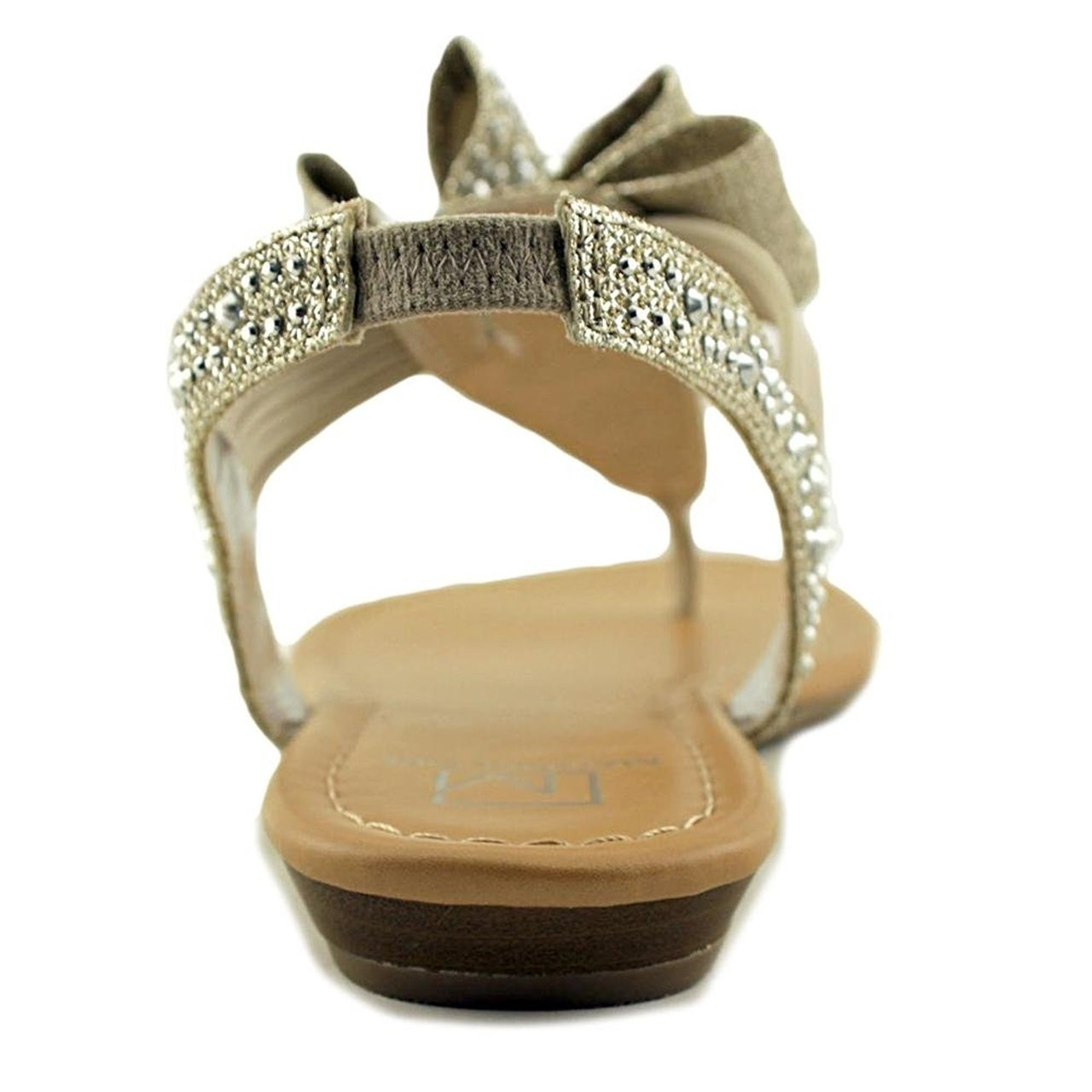 ce50f56e98fc Material Girl MG35 Shayleen Rhinestone Bow T-Strap Sandals -  Silver~pp-2f7397c5 - Boston Store