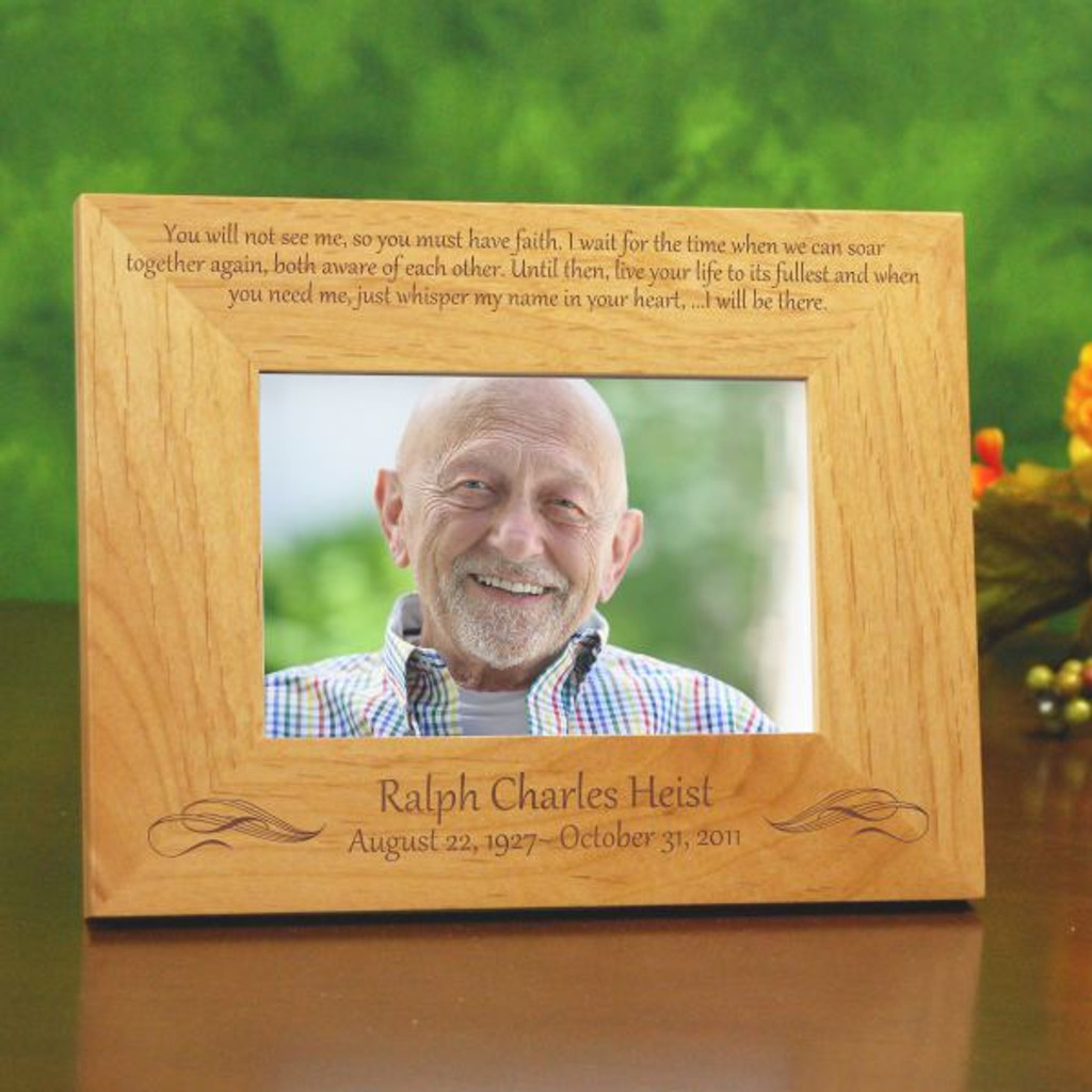 engraved wood picture frames together again memorial frame