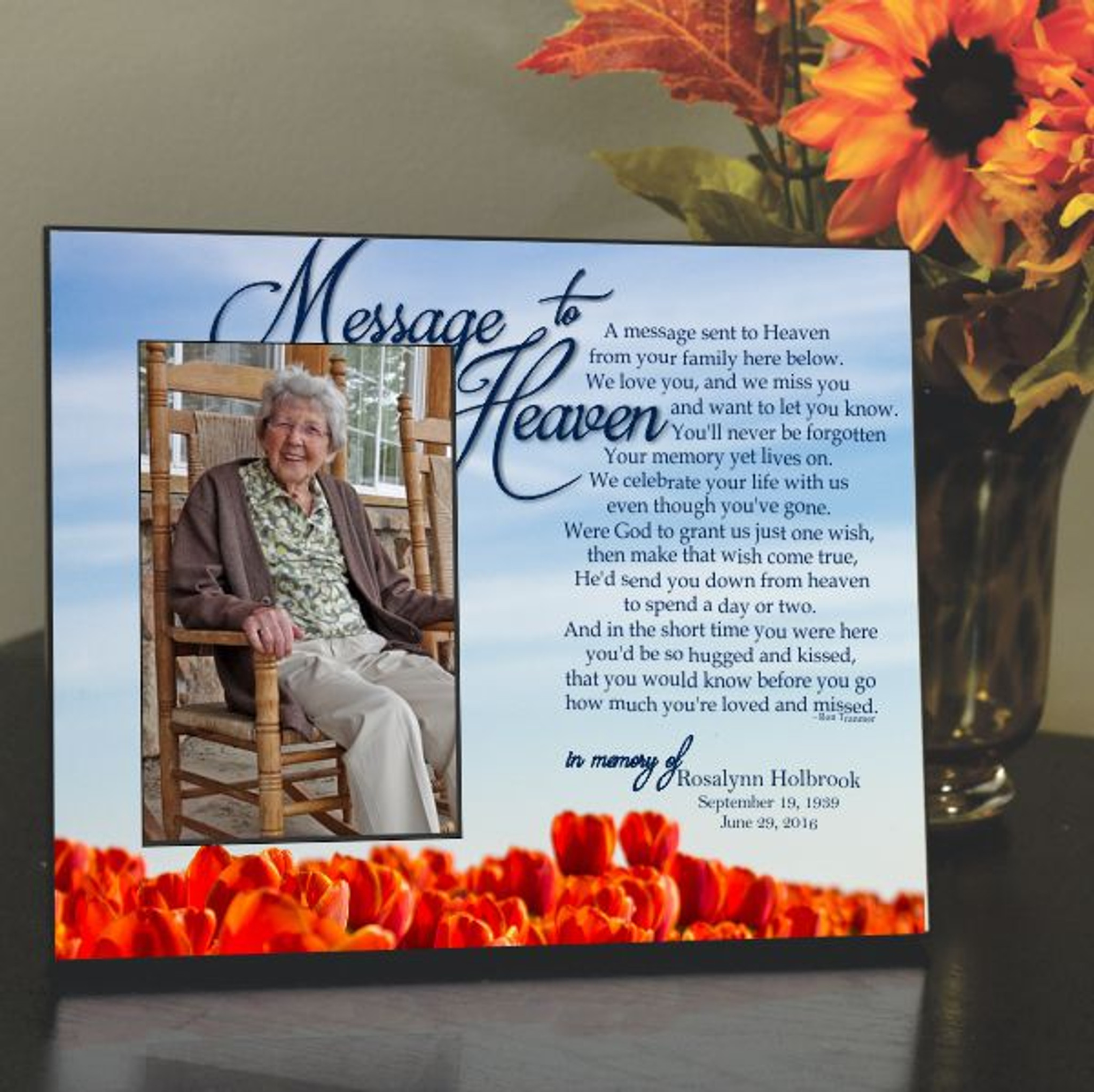 Photo Frames For Loved Ones In Heaven Balloons To Heaven Frame
