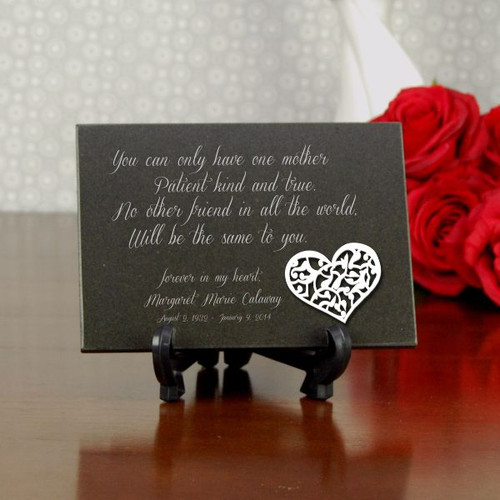 forever my daughter engraved memorial plaque
