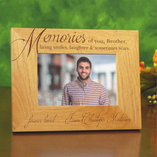 Brother Memorial Picture Frame Personalized