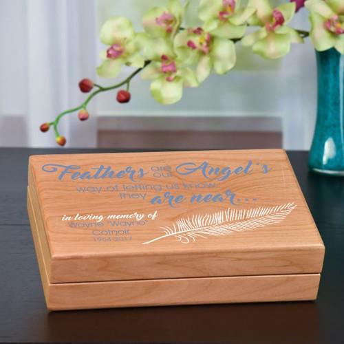 An Angel Feather Keepsake Box