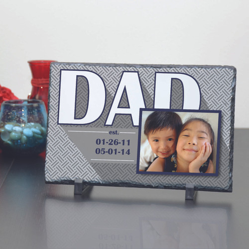 Established Dad Large Slate Plaque
