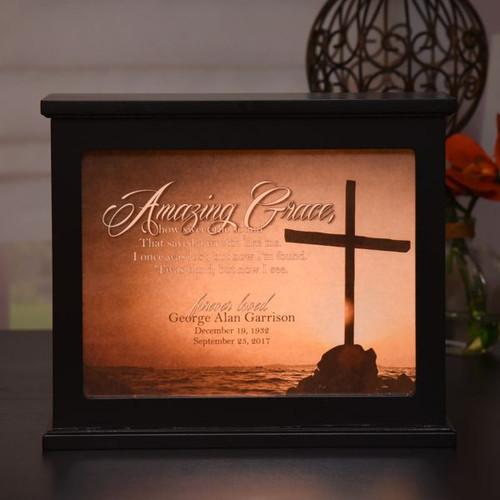 Amazing Grace Memorial Light Box