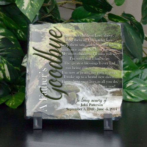 A Father's Goodbye Small Plaque