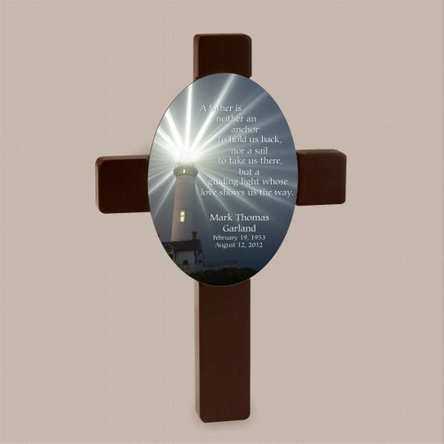 A Father's Love shows the way Cross Plaque