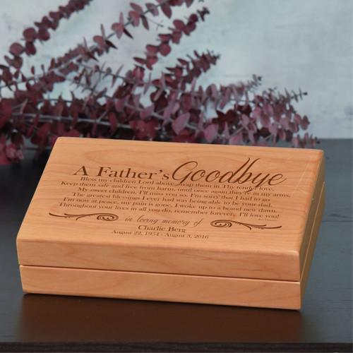 A Father's Goodbye Alder Keepsake Box