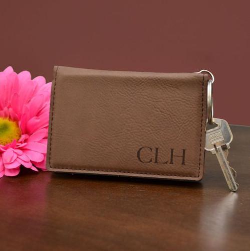 Corner Monogram Key Chain Wallet