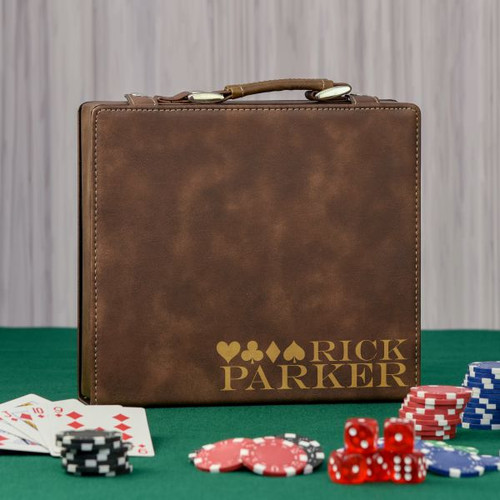 4 Suits Personalized Poker Set