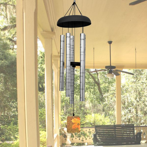 Memorial wind chime personalized with name and dates