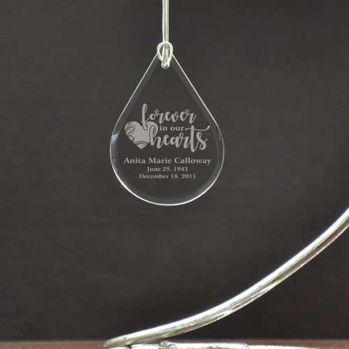 Forever in our Hearts Tear Drop Ornament
