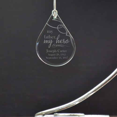 Personalized Memorial Ornament for Dad