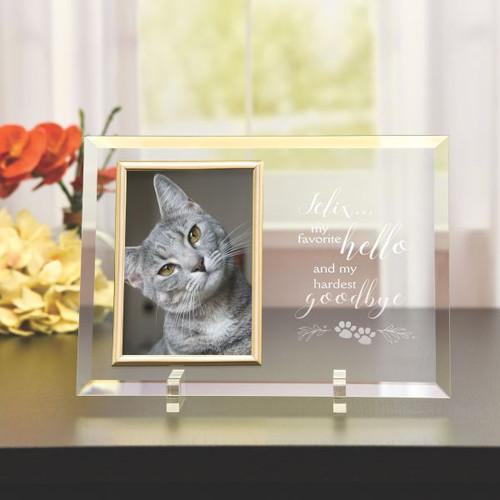 Personalized Glass Pet Memorial Frame