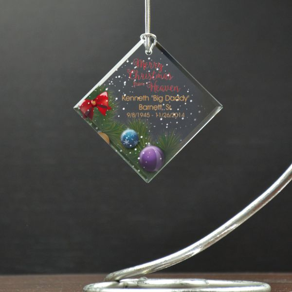 merry christmas in heaven personalized memorial ornament