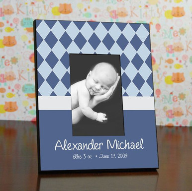 Personalized Baby Boy Picture Frame Newborn Frame