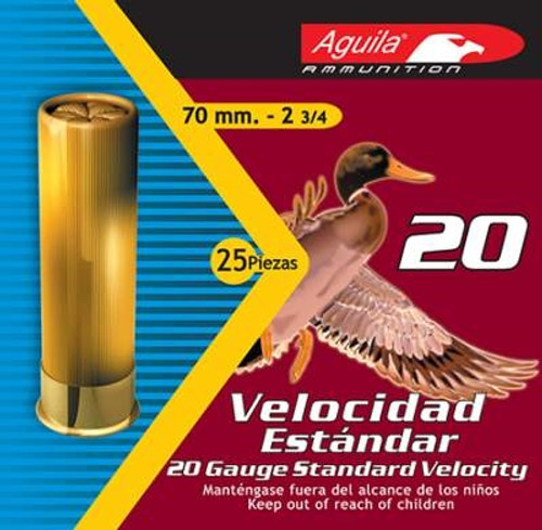 "Aguila 20 Gauge Ammunition Shotshell 2-3/4"" #7 1/2 7/8 oz 1150 Feet Second CASE 250 rounds"