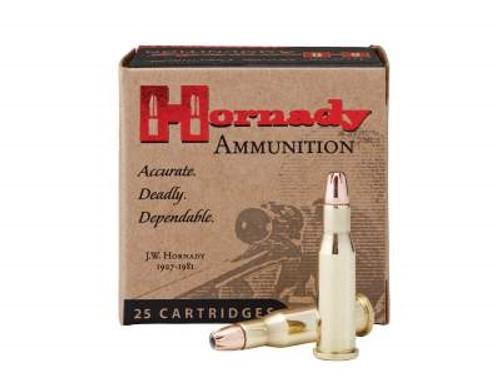 Hornady 218 Bee Ammunition Custom H8307 45 Grain Hollow Point 25 rounds