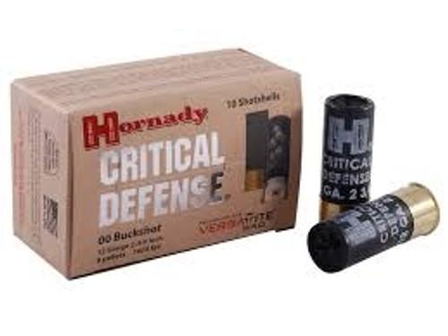 """Hornady 12 ga Critical Defense H86240 00 Buck 2 3/4"""" 10 rounds"""