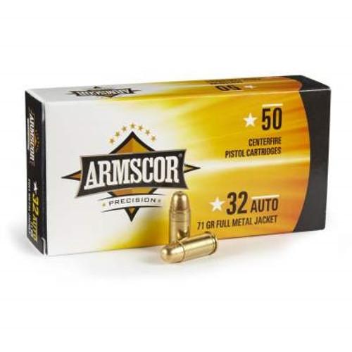 Armscor 32 Auto Ammunition 71 Grain Full Metal Jacket 50 rounds