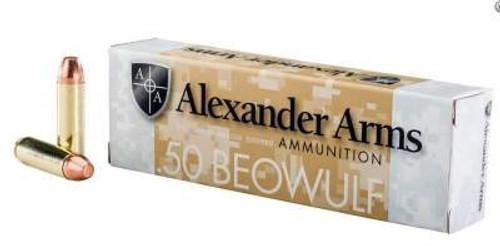 Alexander 50 Beowulf Ammunition 335 Grain Flat Point Full Metal Jacket 20 rounds