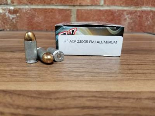 Ten Ring 45 Auto Ammunition 230 Grain Full Metal Jacket Aluminum 50 rounds