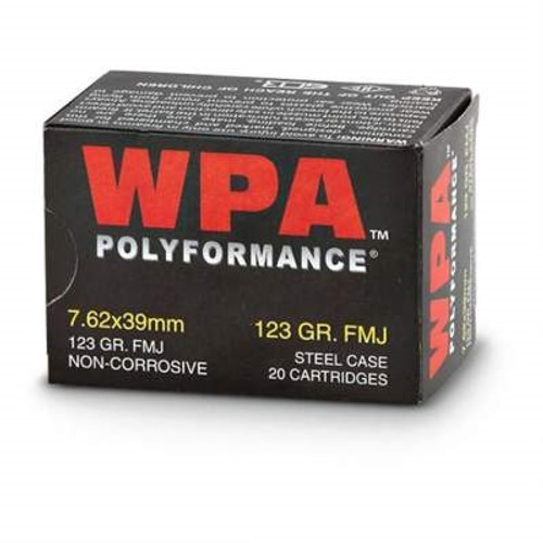 Wolf 7.62x39mm Ammunition 123 Grain Full Metal Jacket 20 Rounds