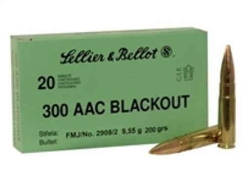 Sellier & Bellot 300 AAC Blackout Ammunition Subsonic 300BLKSUBA 200 Grain Full Metal Jacket Case of 1,000 Rounds