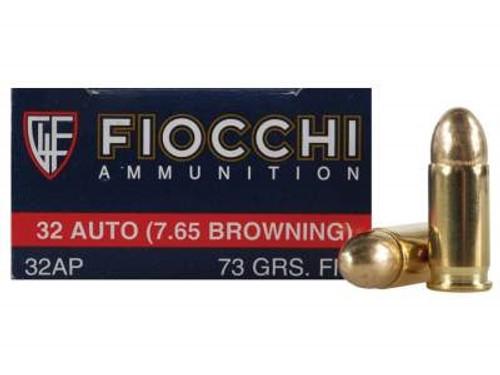 Fiocchi 32 Auto Ammunition FI32AP 73 Grain Full Metal Jacket CASE 1000 rounds