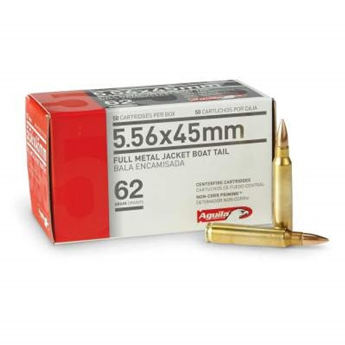 Aguila 5.56x45mm NATO Ammunition 1E556110 62 Grain Full Metal Jacket 50 rounds