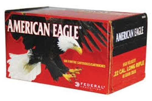 Federal 22LR Ammunition American Eagle AE5022 40 Grain Lead Round Nose High Velocity Case of 5,000 Rounds