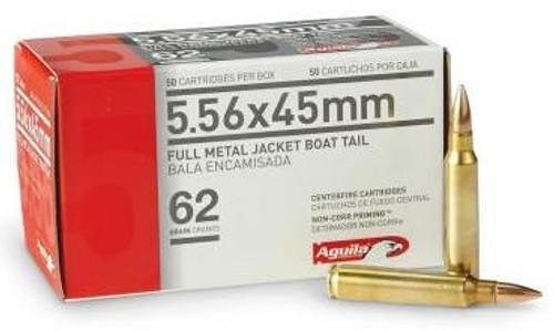 Aguila 5.56x45mm NATO Ammunition 1E556110 62 Grain Full Metal Jacket CASE 1000 rounds