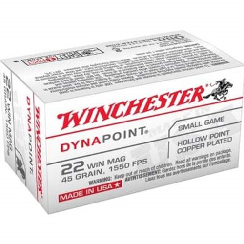 Winchester 22 Mag Dynapoint USA22M 45 gr Plated HP CASE 2,000 rounds