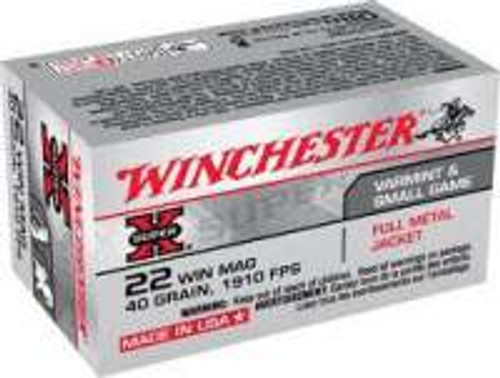 Winchester Super-X 22 WMR X22M 40 Gr FMJ 50 rounds