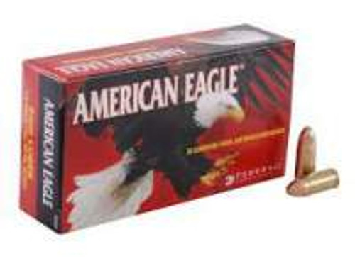 Federal 9mm Ammunition American Eagle AE9DP 115 Grain Full Metal Jacket Case of 1000 Rounds