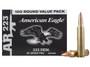 Federal 223 Rem Ammunition American Eagle AE223BL 55 Grain Full Metal Jacket 100 rounds