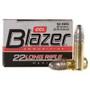 CCI 22LR Ammunition Blazer 0021 40 Grain Lead Round Nose 50 Rounds