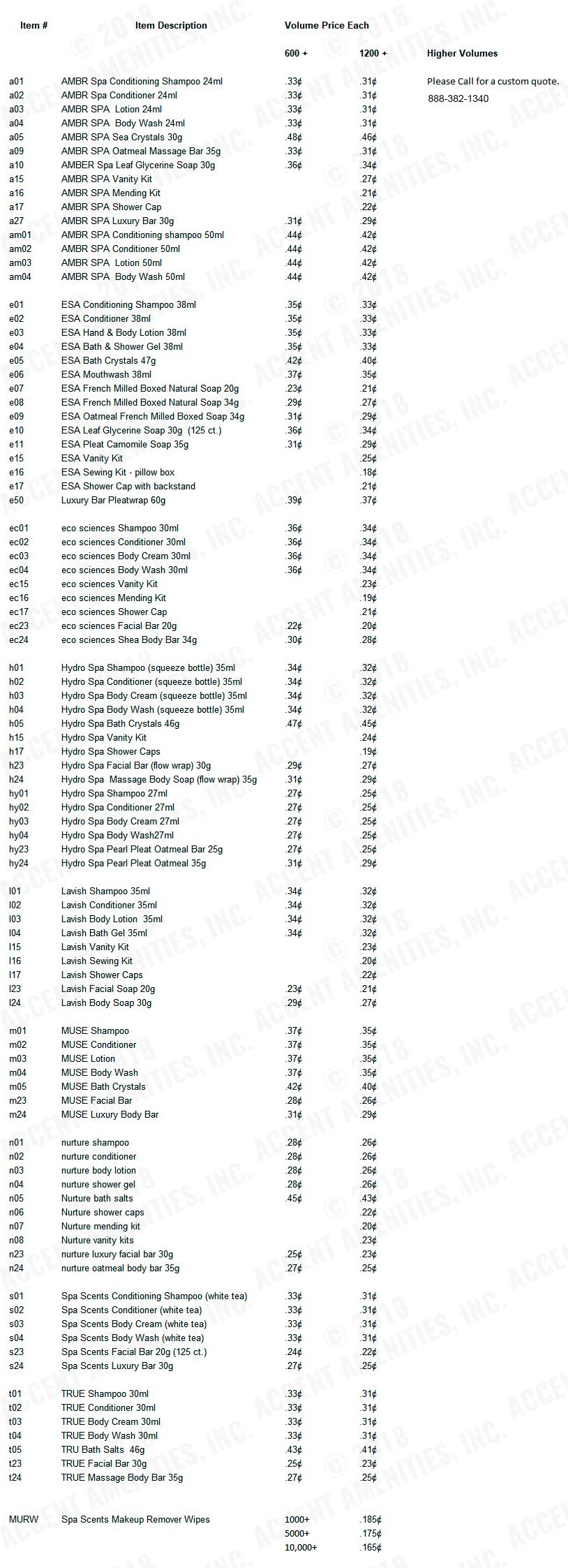 Volume Pricing