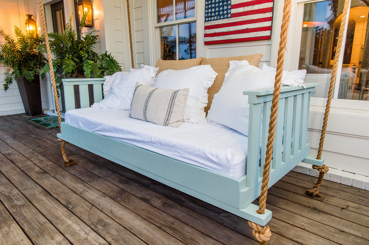 porch of using the image white swing outdoor bed swings interest jbeedesigns sale