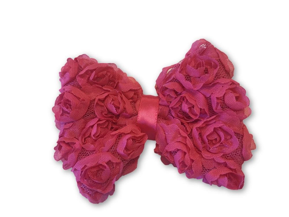 Shabby Rose Bow Clip