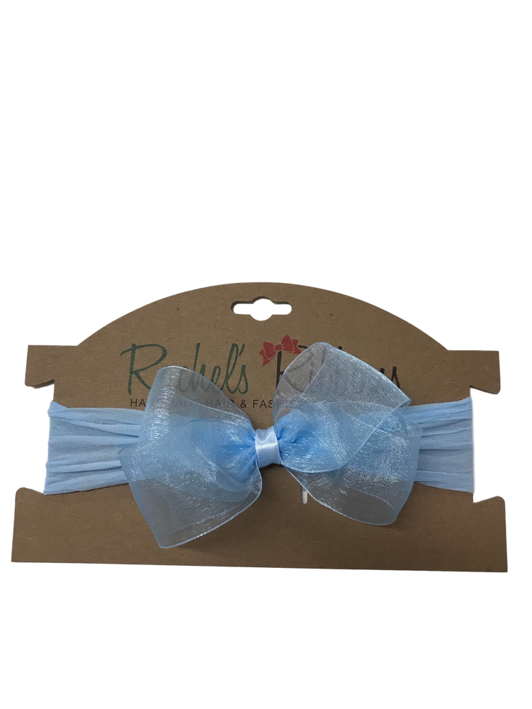 Sheer Headband with Bow Carded