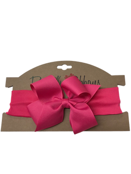 Knit Headband with Bow Carded