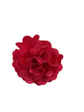 Satin Mesh Rose Clip
