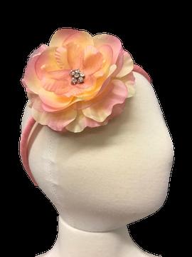 Skinny Headband with Precious Petal Flower on Head Form