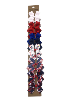 Toddler Quick Strip - Patriotic Includes 2 White, 2 Red, 1 Electric Blue, 1 Navy Blue Plus 6 Patriotic Novelty Patterns
