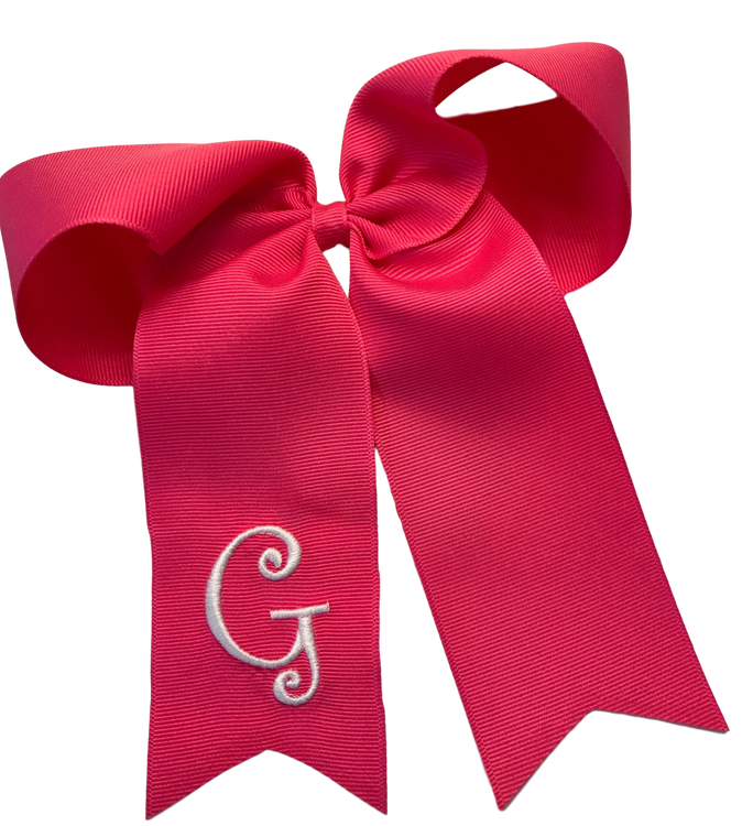 Monogram Bow with Tails