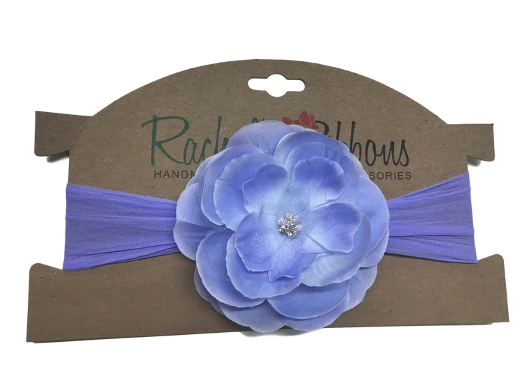 Sheer headband with Precious Petal Flower on Card