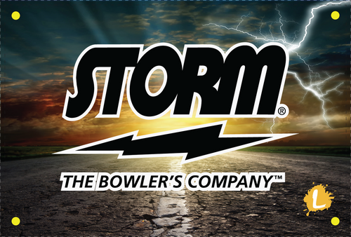 Storm On The Road Dye Sublimated Banner