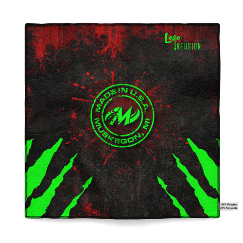 Motiv Red/Green Claw Sublimated Towel