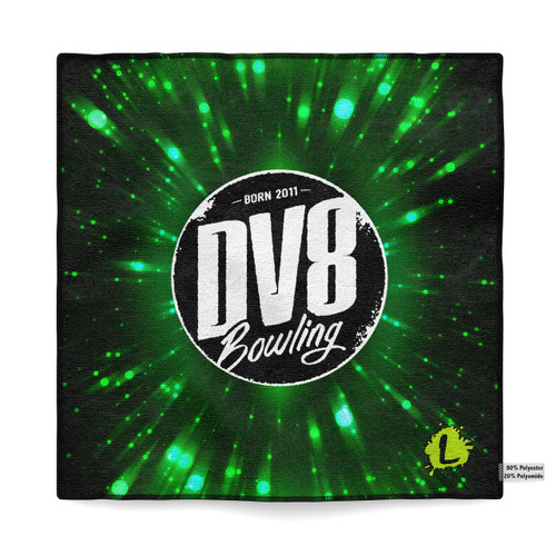 DV8 Green Vortex Sublimated Towel