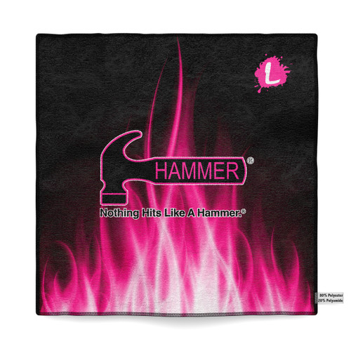 Hammer Pink Flame Sublimated Towel